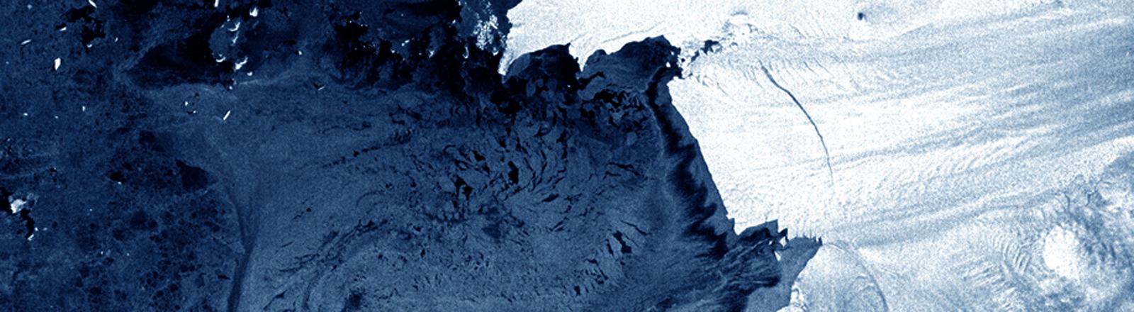 Satellitenaufnahme der Antarktis