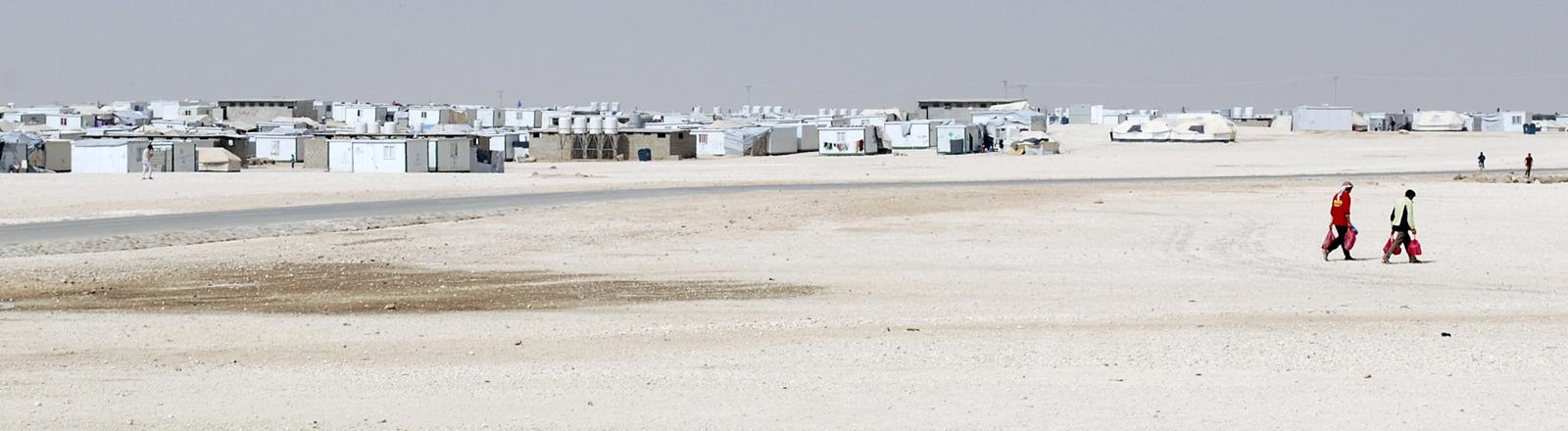 Flüchtlingscamp in der Wüste - Zaatari in Jordanien