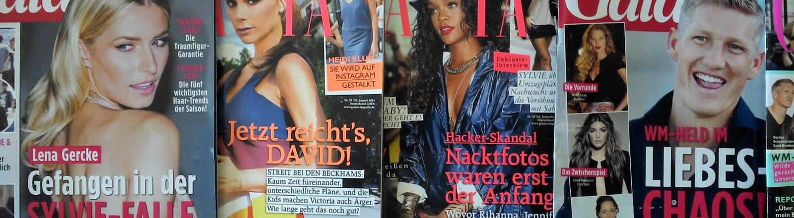 Klatsch- und Tratschzeitschriften.