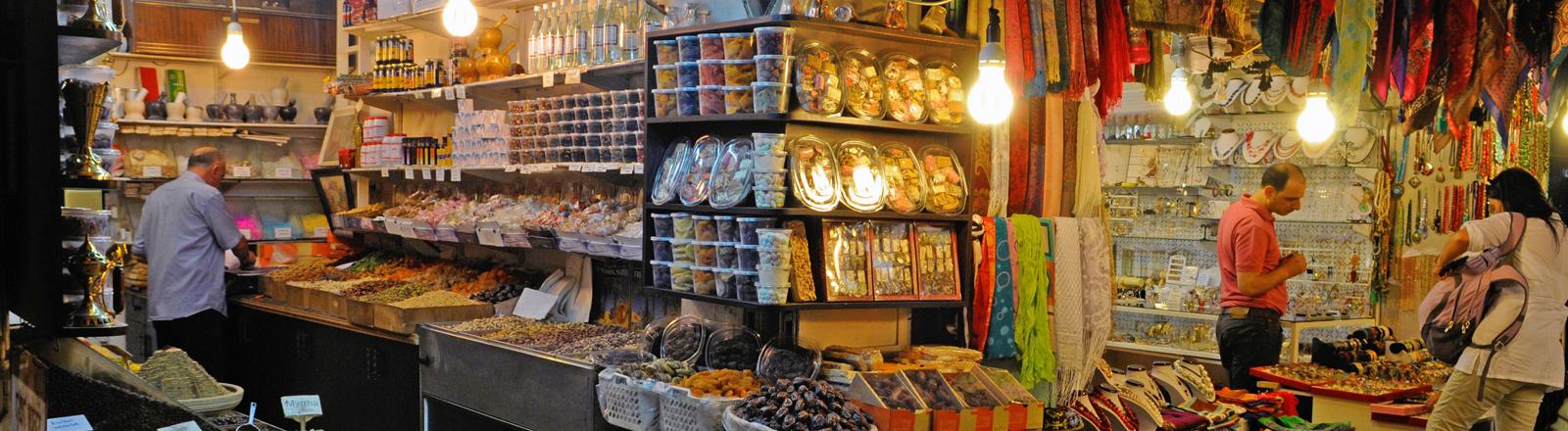 Geschäfte in der Altstadt von Jerusalem.