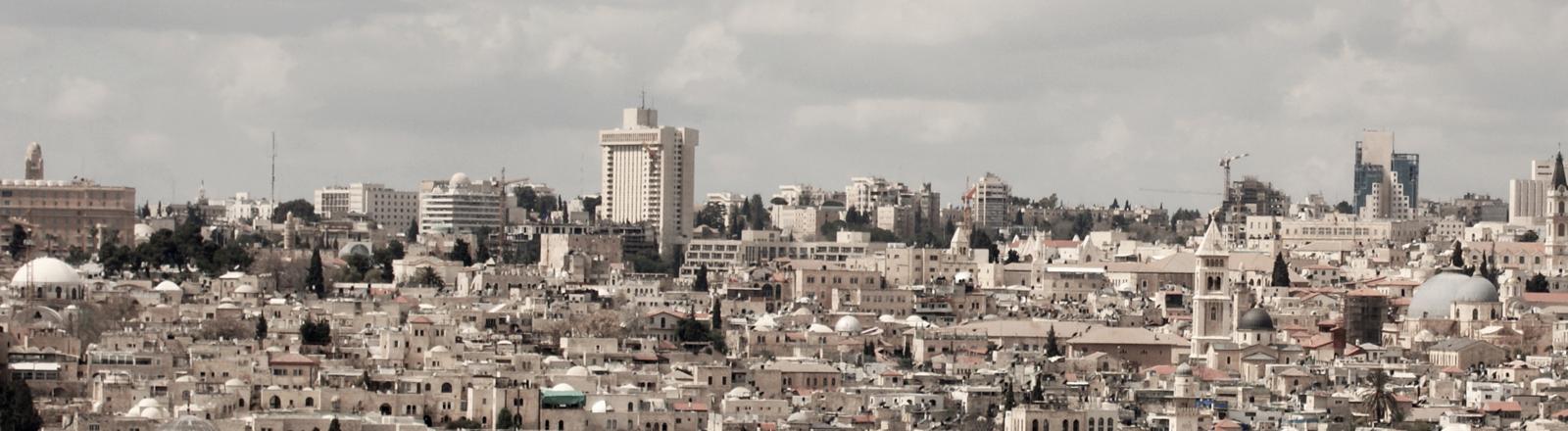 Stadtansicht von Jerusalem ohne Felsendom.