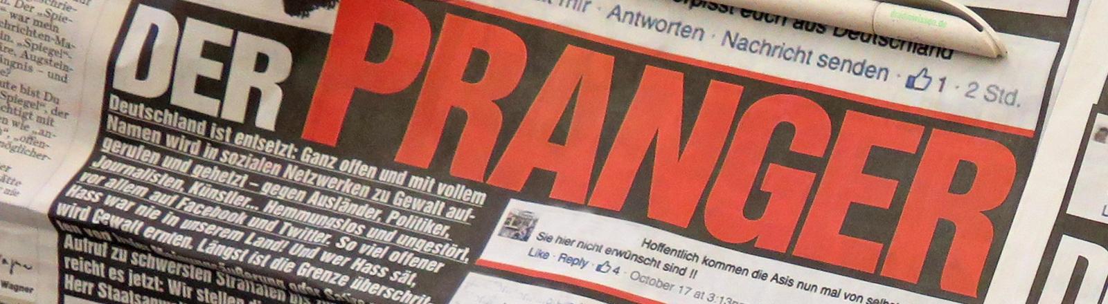Die Bild-Zeitung veröffentlicht Hasskommentare in ihrer Printausgabe.