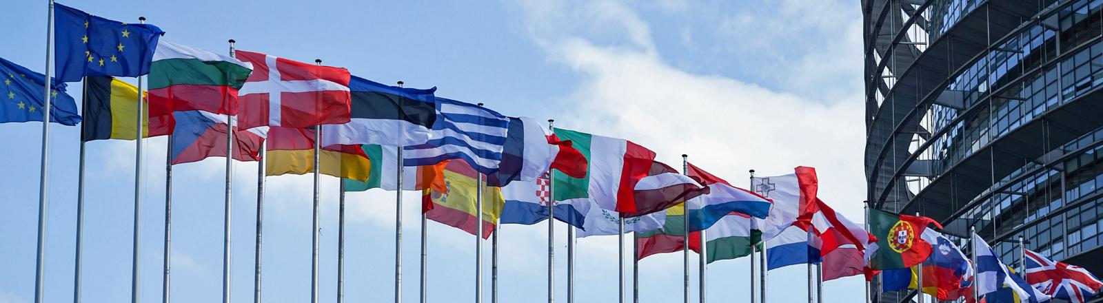Flaggen der EU.