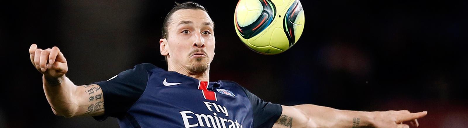 Zlatan Ibrahimović im Trikot des französischen Fußballvereins Paris Saint-Germain.