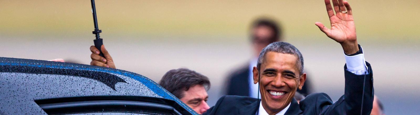 Barack Obama trifft in Kuba ein - als erster US-Präsident seit 88 Jahren.