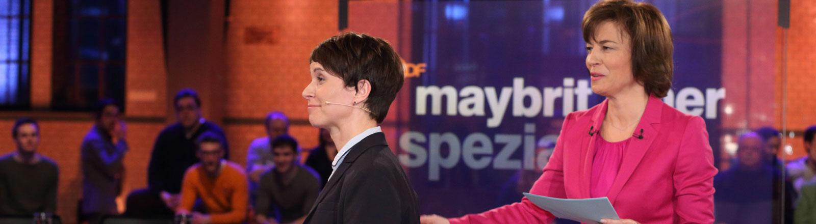 Frauke Petry bei Maybritt Illner