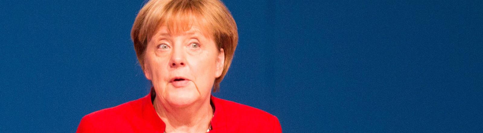 Angela Merkel auf dem Parteitag der CDU am 06.12.2016 in Essen.