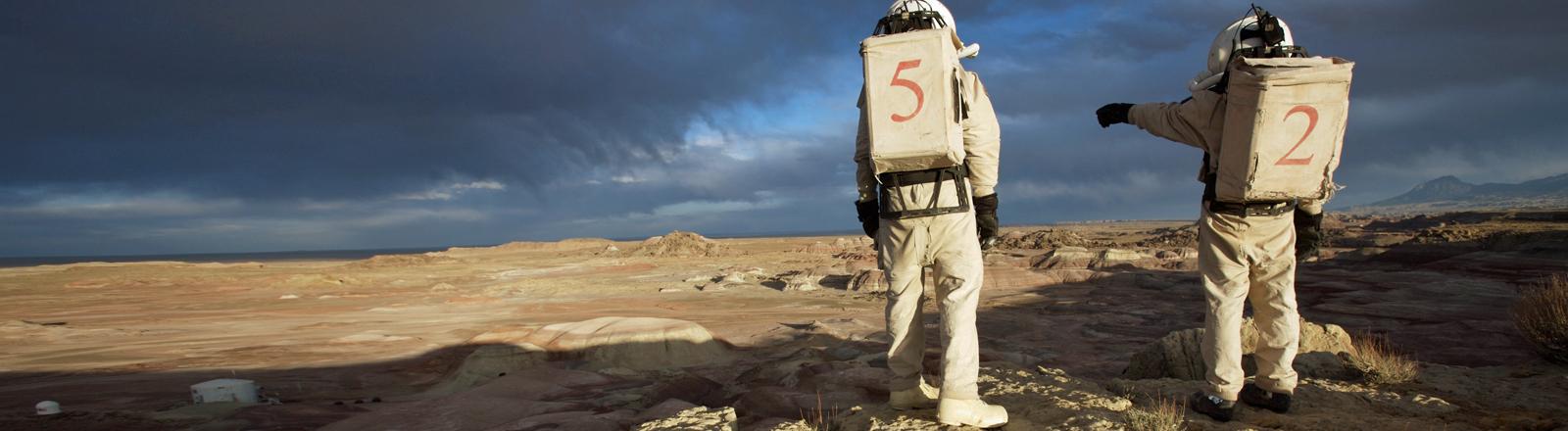 Vorbereitung für eine Mars-Mission: Die Mars Society testet das in Utah.