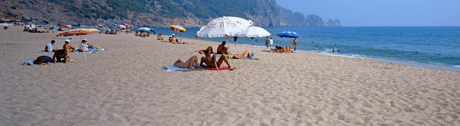 Strand bei Alanya an der Türkischen Riviera