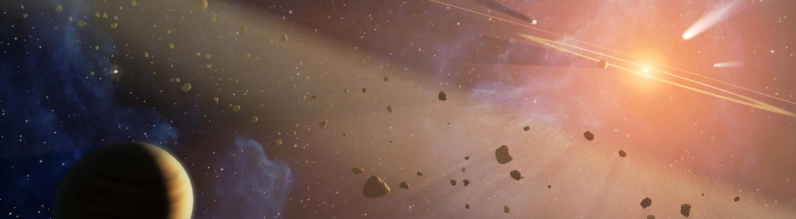 Weltraumteleskop entdeckt Asteroidengürtel bei Nachbar-Sonnensystem.