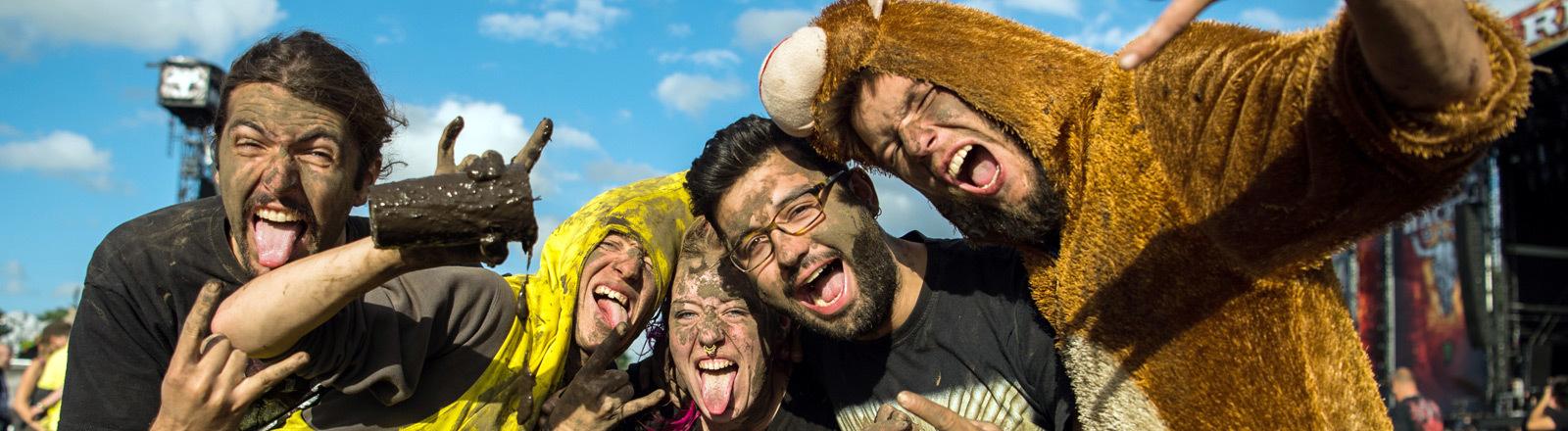 Festivalbesucher in Wacken.