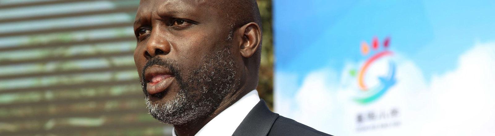 George Weah Präsidentschaftskandidat in Liberia