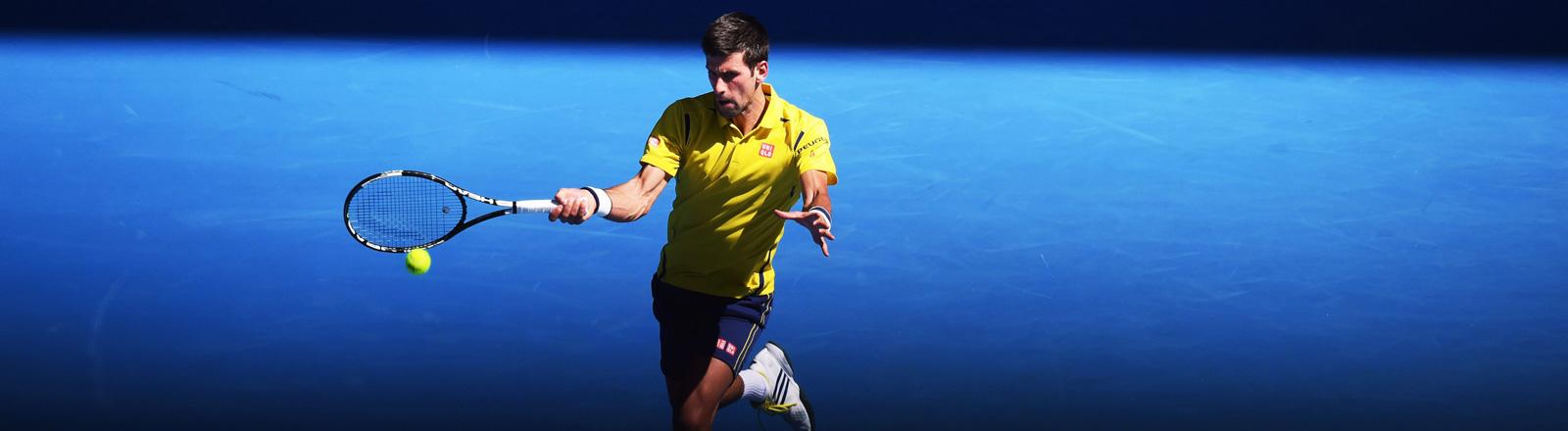 Novak Djokovic bei den Australian Open 2016.