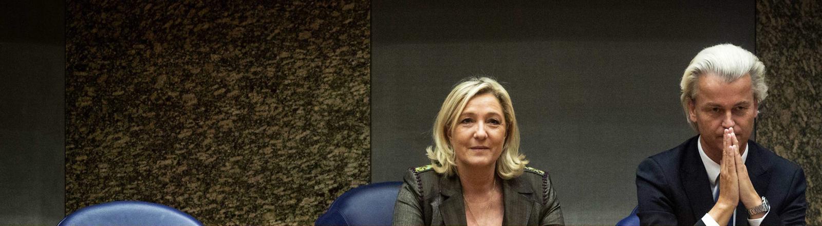Marine Le Pen und Geert Wilders