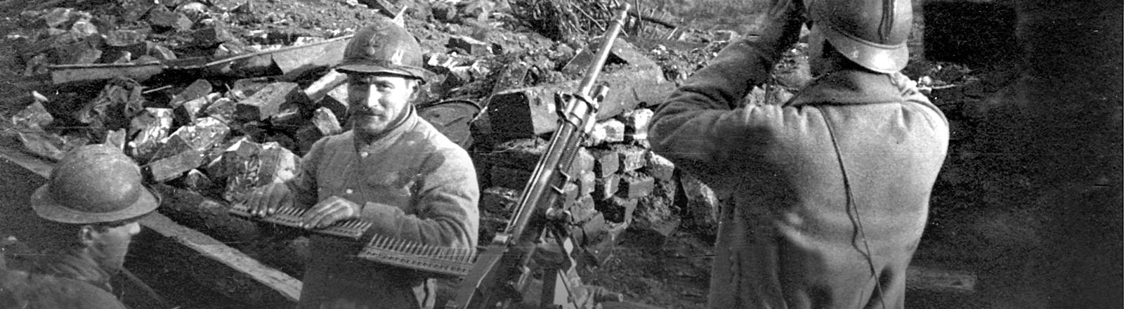 Französische Soldaten im ersten Weltkrieg