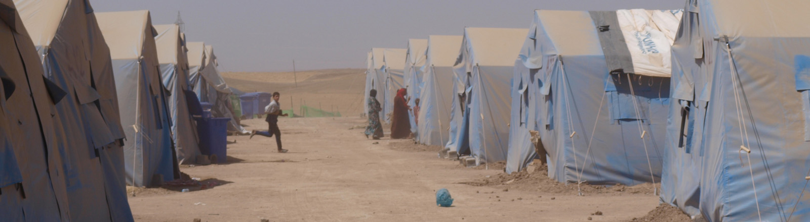 Zelte in einem Camp bei Erbil