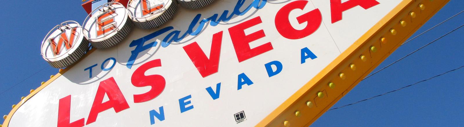 Ein Schild mit der Aufschrift: Welcome Las Vegas