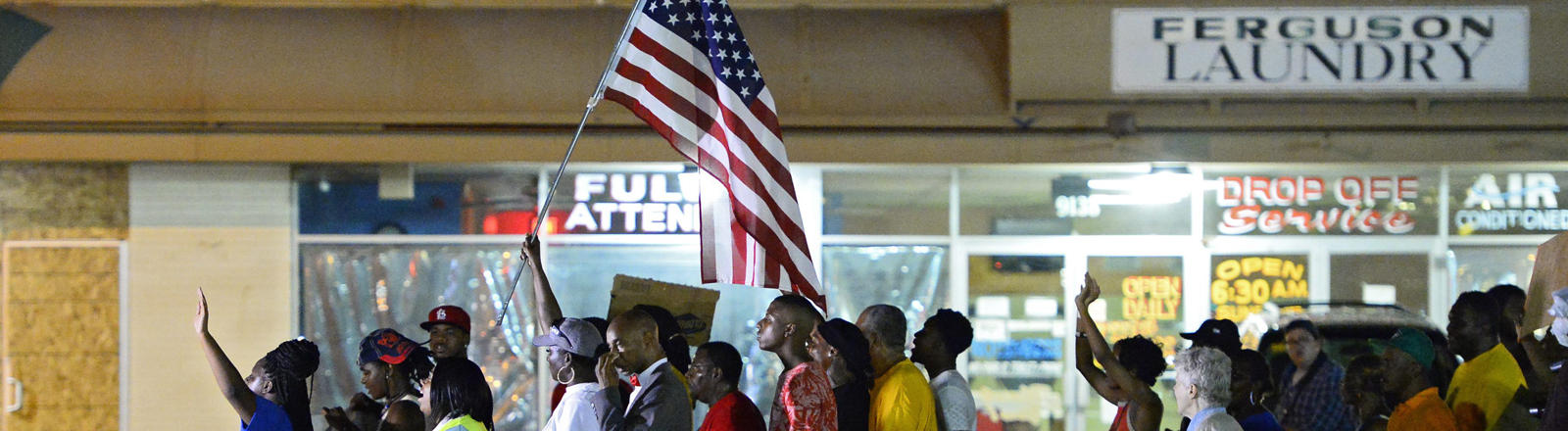 Protestmarsch in Ferguson.