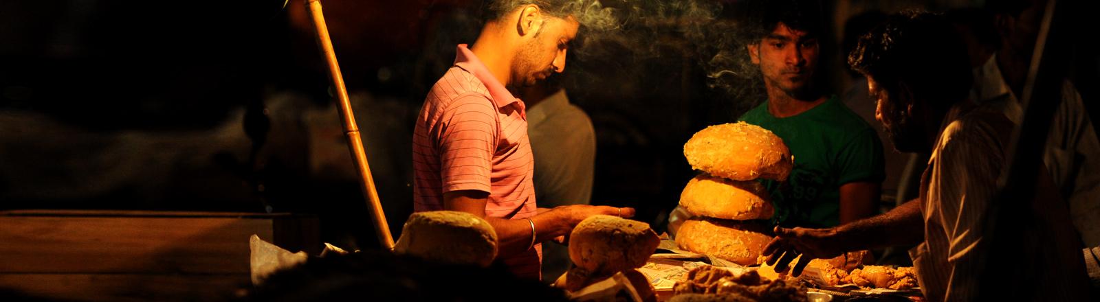 Street-Food-Händler in Indien.