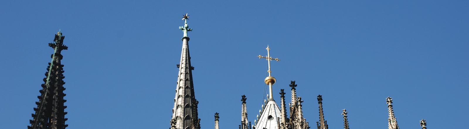 Die Spitzen vom Kölner Dom