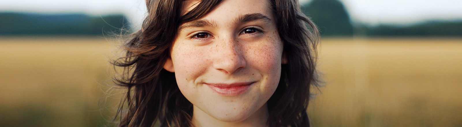 Eine junge Frau.