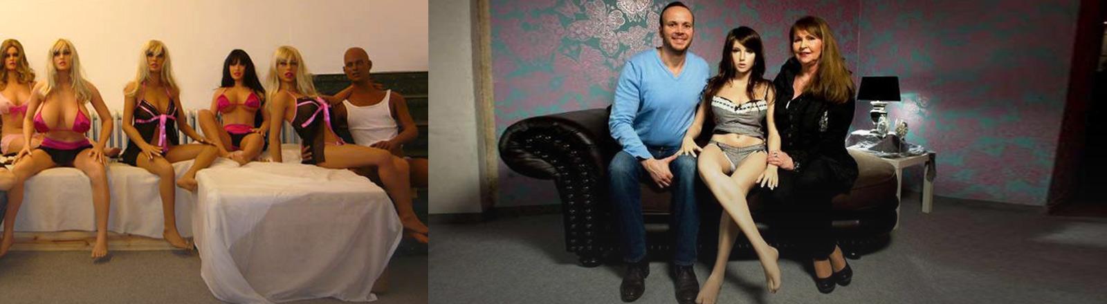 Mitja Klee und Real Dolls, die er verkauft