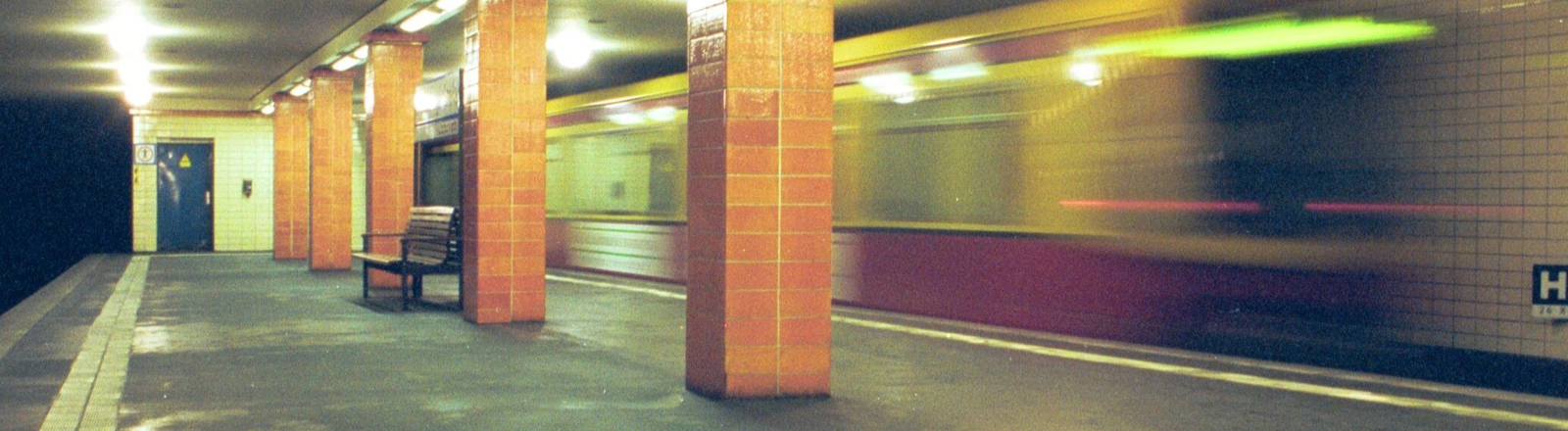 Einsame U-Bahn-Station in Berlin