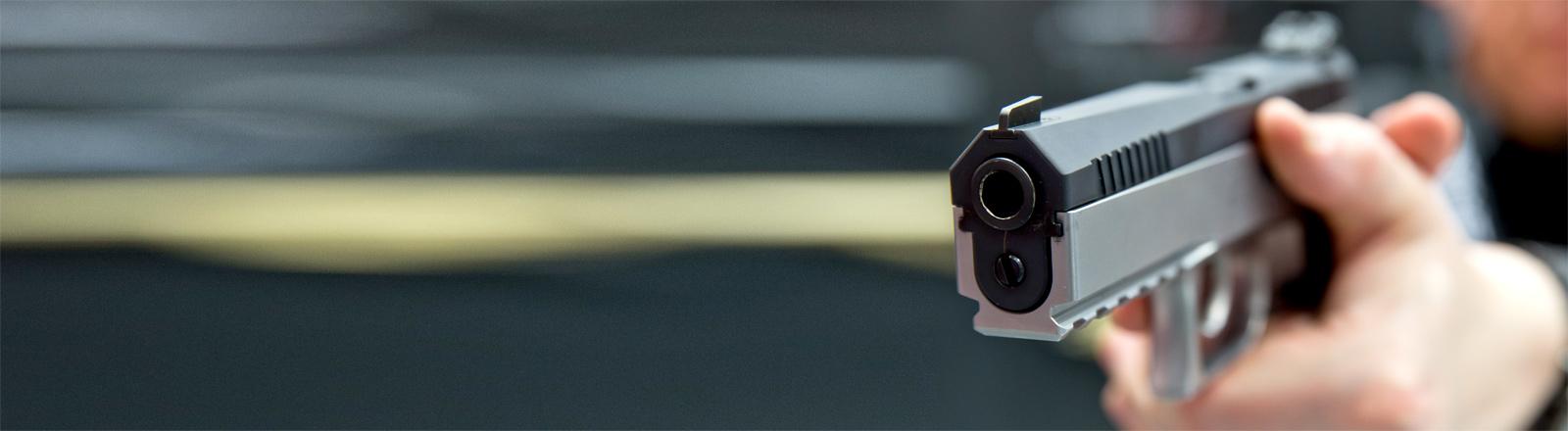 Eine 9-Millimeter-Schusswaffe