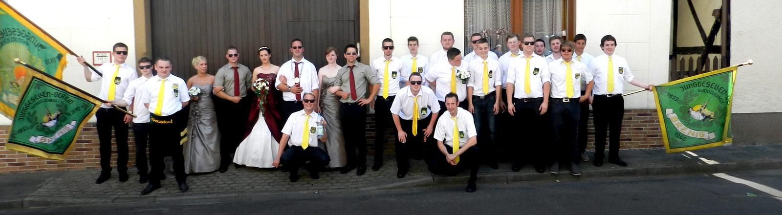 Mitglieder des Junggesellenvereins Gemütlichkeit Brenig