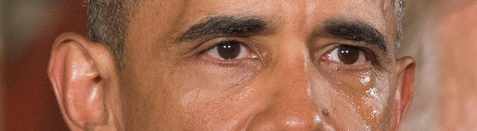 US-Präsident Obama weint bei seiner Rede zum Thema Waffenbesitz
