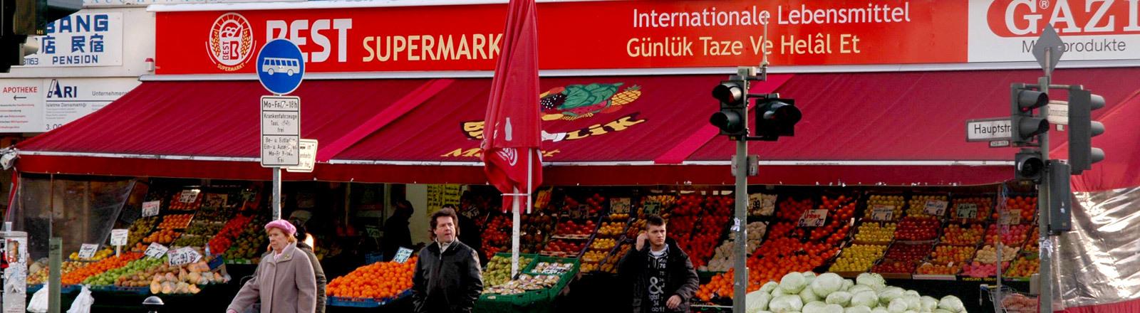 Ein türkisches Lebensmittelgeschäft