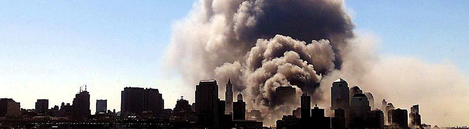 Staubwolken am 11. September in New York