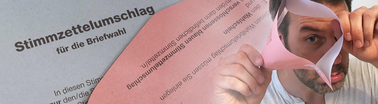 Ralph Günther mit defektem Briefwahl-Umschlag