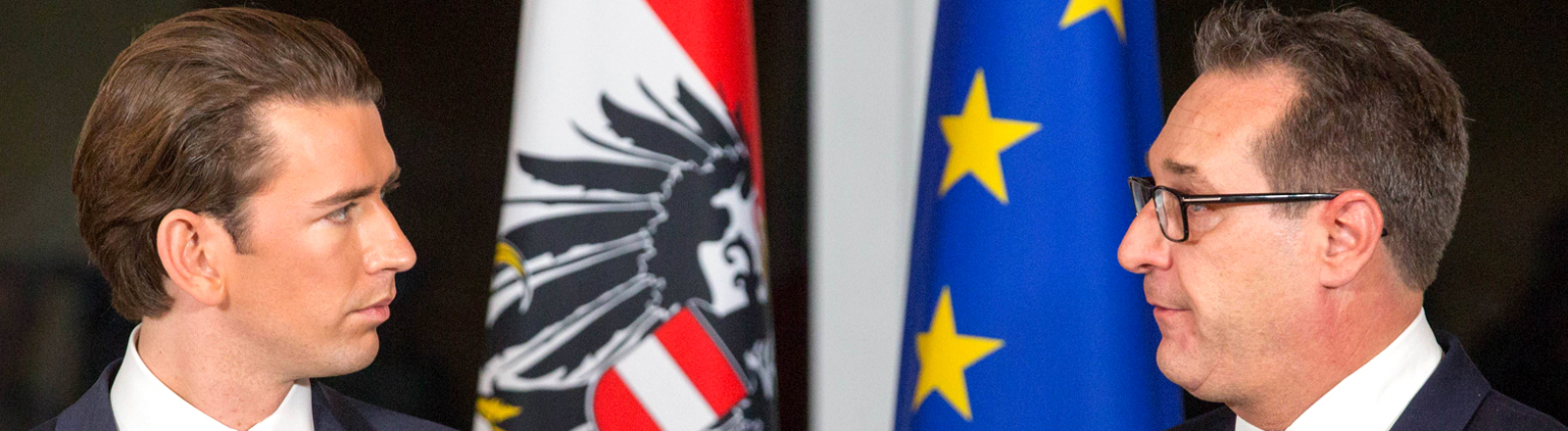 Heinz-Christian Strache und Sebastian Kurz, Regierungsbündnis Österreich