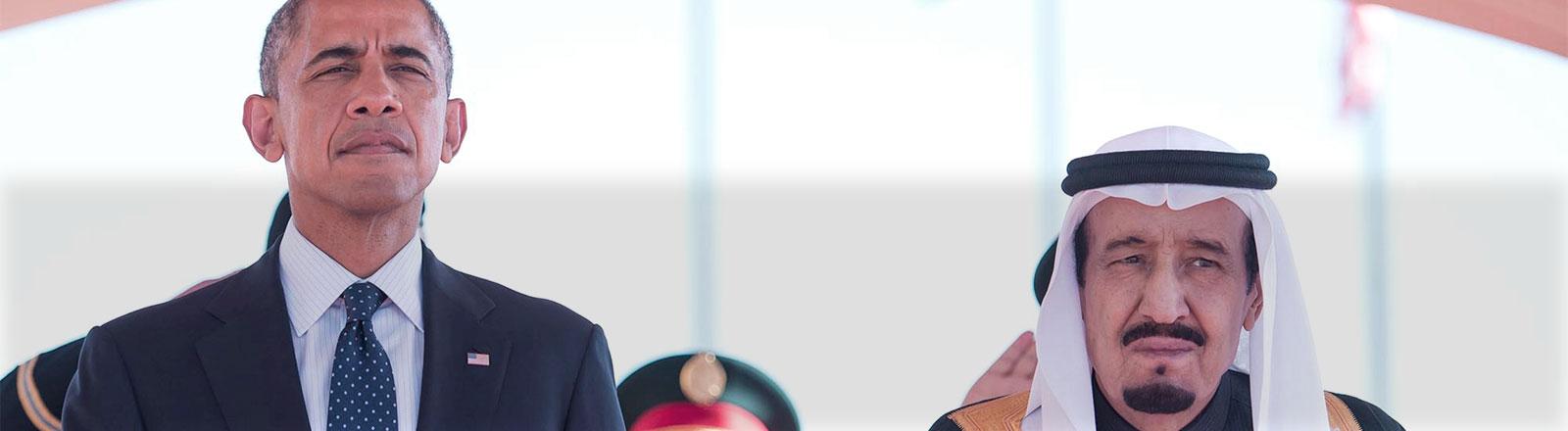 US-Präsident Barack Obama und der neue saudische König Salman.