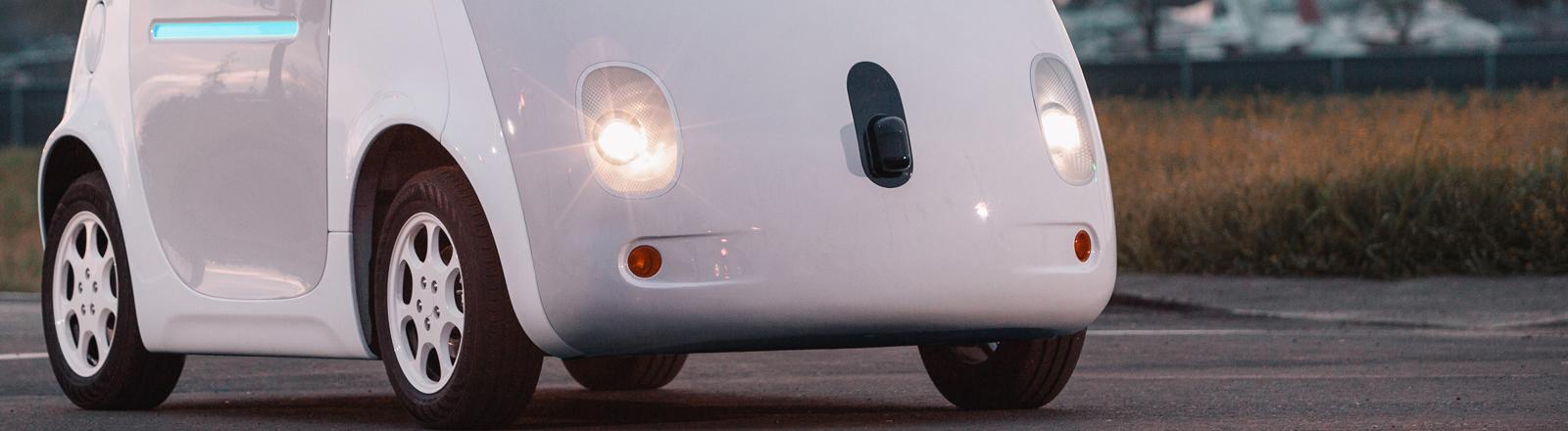 """Das Handout zeigt einen Prototyp des """"Self-driving vehicle"""" von Google (undatiertes Handout)."""