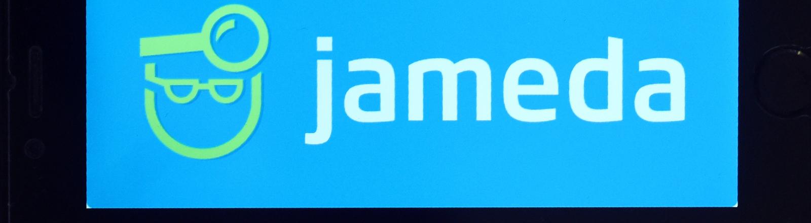 Jameda-Schriftzug auf einem Smartphone-Display