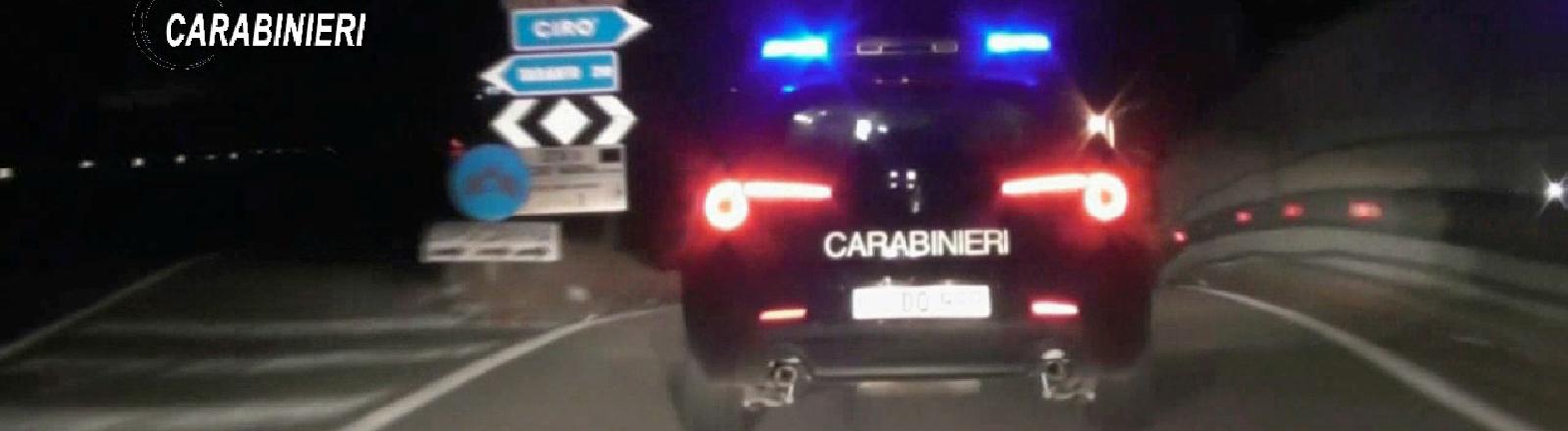Auto der italienischen Polizei