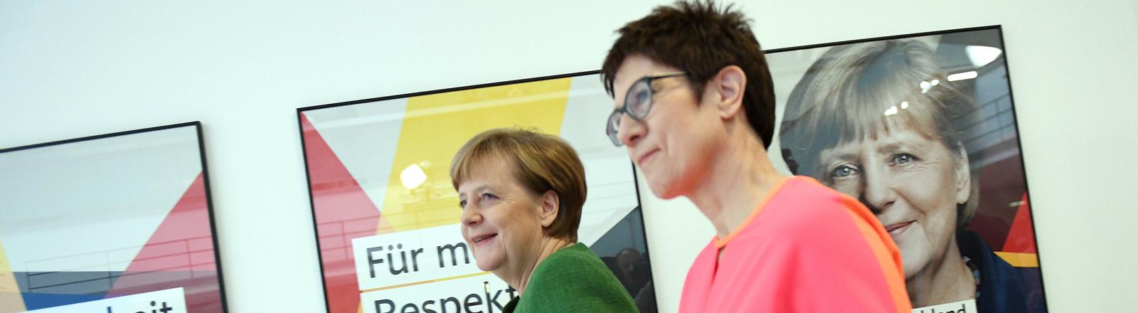 Angela Merkel (links) und Annegret Kramp-Karrenbauer