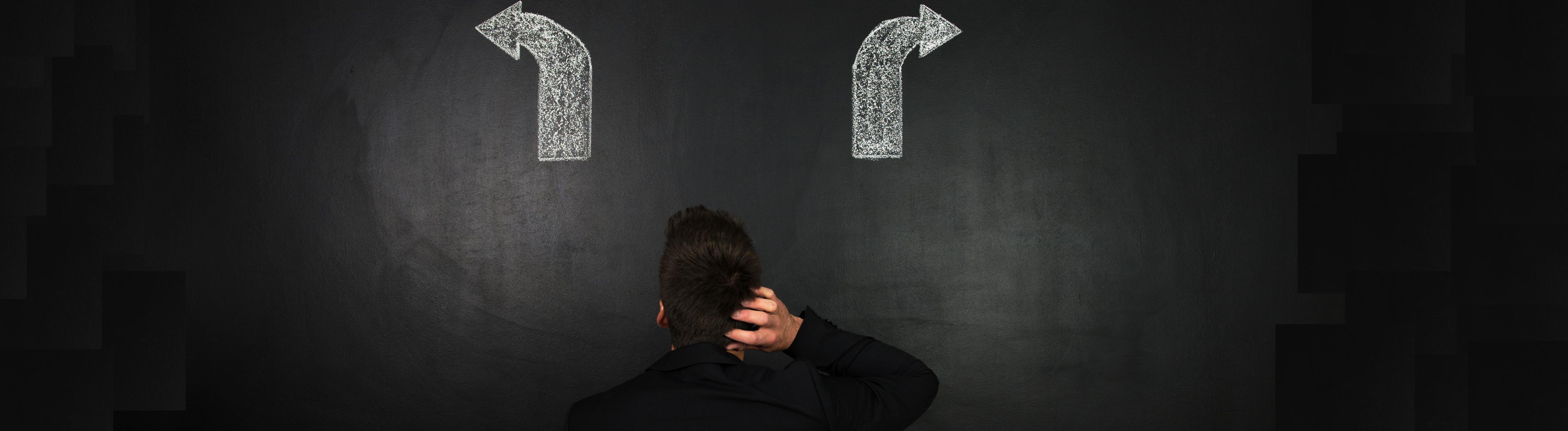 Schwierige Entscheidungen: Der Entscheidungsnavi soll eine Hilfe sein.