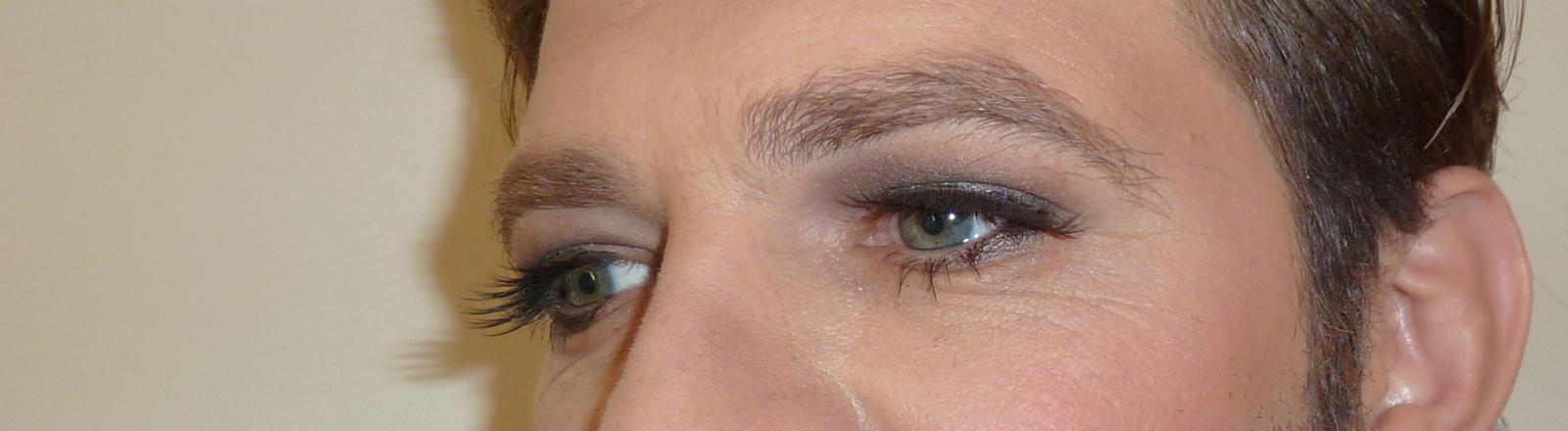 Martin Krinner geschminkt
