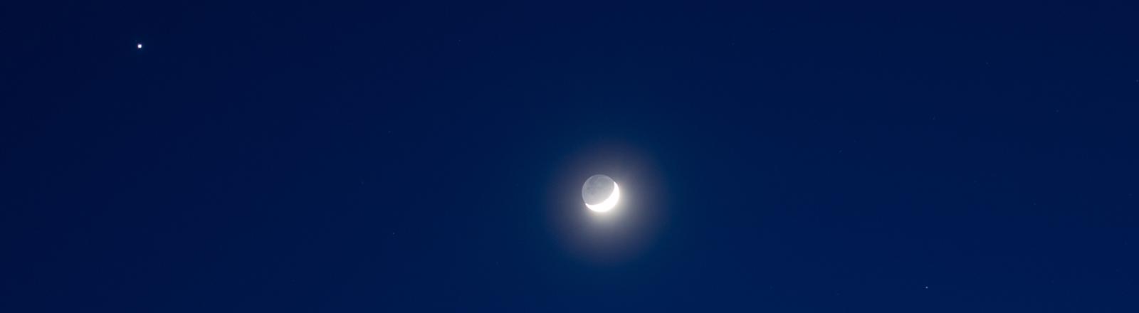 Mond, Jupiter und Venus sind die hellsten Planeten am Sternenhimmel