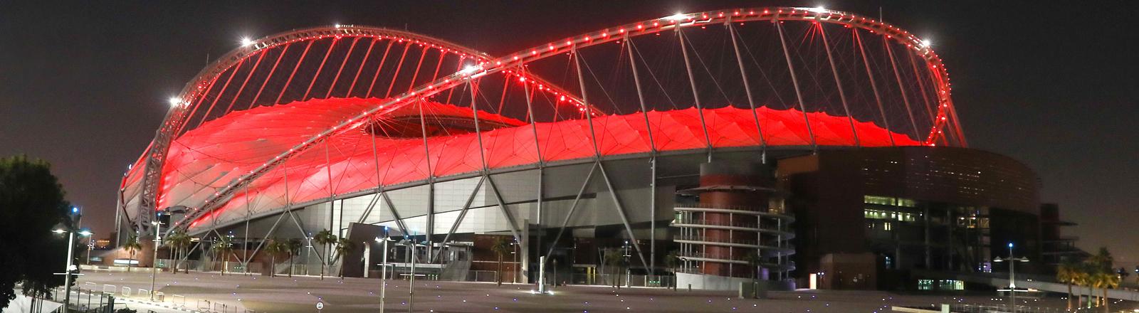 Das Fußballstadion in Doha