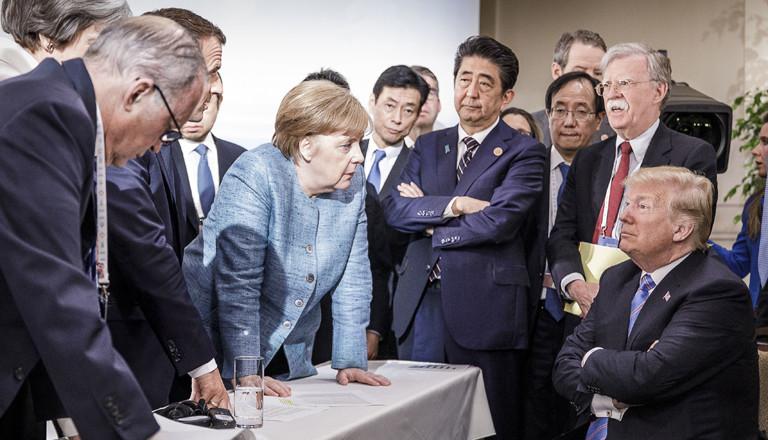 Das Bild vom G7-Gipfel in Kanada, das allen in Erinnerung bleiben wird.
