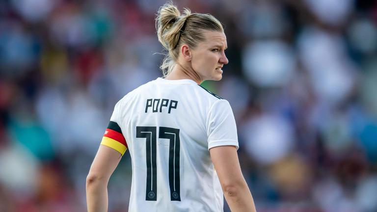 Alexandra Popp, die Kapitänin der deutschen Fußballnationalmannschaft der Frauen.