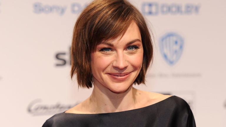 Schauspielerin Christiane Paul auf dem roten Teppich bei der Vorstellung eines neuen Filmes.