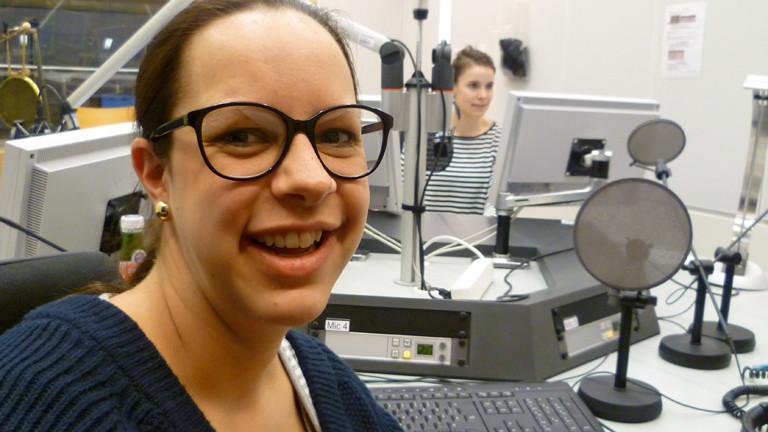 Die Braumeisterin und Hellers-Chefin Anna Heller im DRadio-Wissen-Studio am 23.03.2015.
