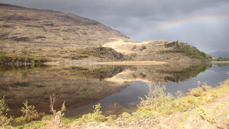 Ein Blick auf die schottische Landschaft