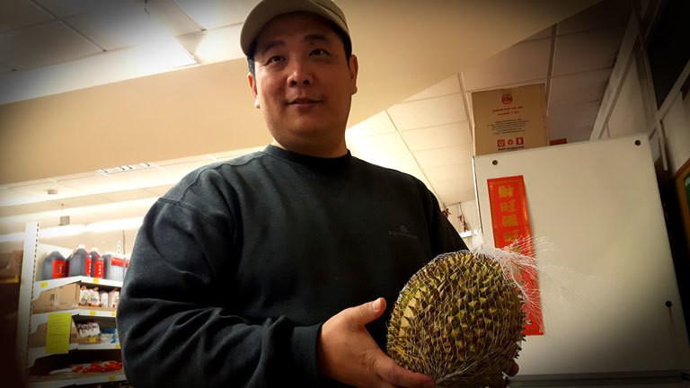Durian Stinkefrucht Verkäufer Asia Shop