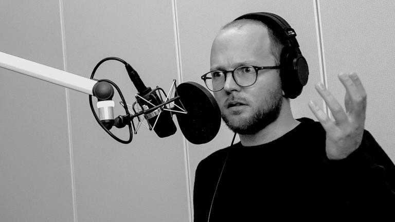 Musiker Stefan Honig im DRadio-Wissen-Studio